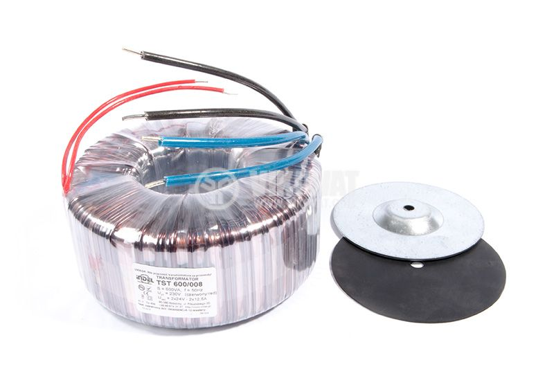 Тороидален трансформатор, INDEL TST 600/008, 2x24 VAC, 600 VA - 2