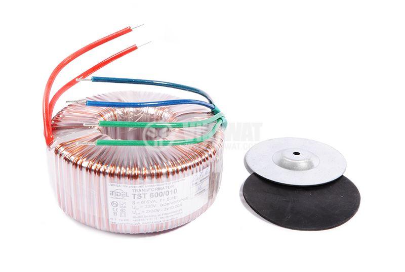 Тороидален трансформатор, INDEL TST 600/010 600-2x30 VAC, 600 VA - 1