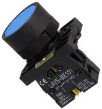 Button Switch LAY5-ЕА61, 400VAC/10A, SPST-NО, blue