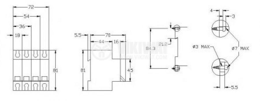 Miniature circuit breaker 1x6AS CHNEIDER 20431 - 2