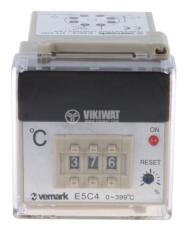 Термоконтролер, E5C4, 220 VAC, 0 °C до 400 °C, за терморезистор тип Pt100, SSR изход - 2