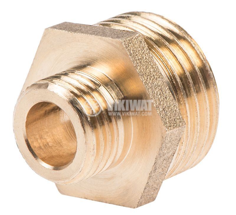 "Brass nipple G1/2""-G3/4"", S21mm - 1"