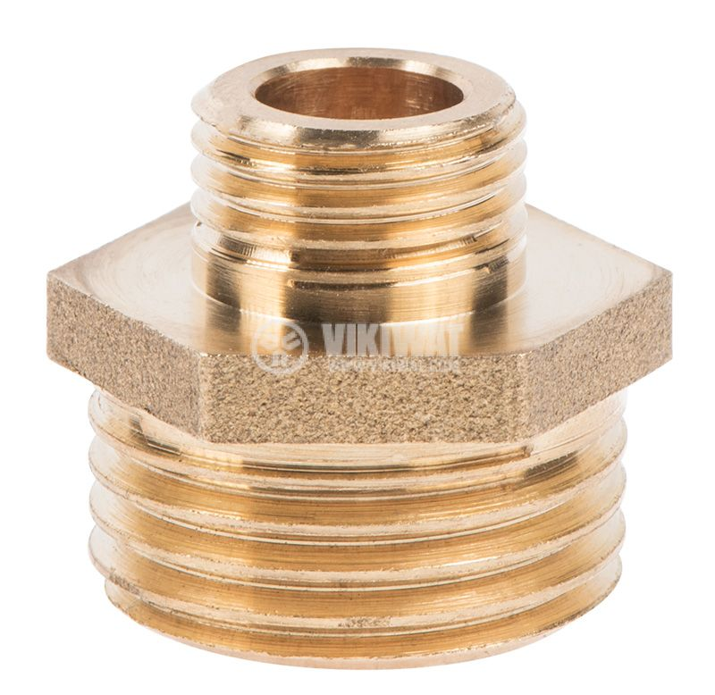 "Brass nipple G1/2""-G3/4"", S21mm - 3"