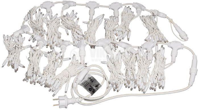 Светеща коледна украса тип завеса, 1.5x2m, 35W, студенобяла, IP44, 300 LEDs - 2