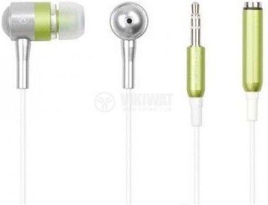 Слушалки MK-650-G, стерео, стерео жак 3.5mm, за iPOD Nano