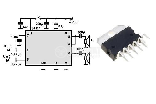 Интегрална схема TDA7360