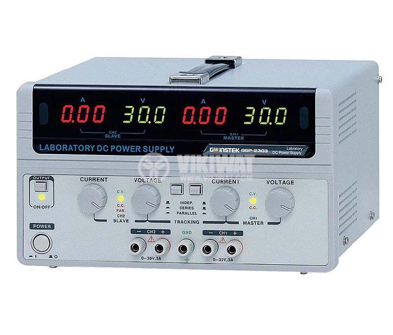 Linear DC Power Supply GPS-2303, 3 A, 30 V, 2 CH,180 W - 1