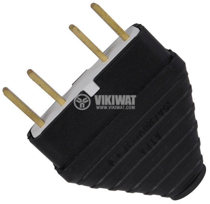 Electrical Plug, 3 x 25 A, 380VAC, three phase, rubber - 1
