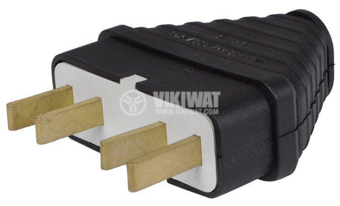 Electrical Plug, 3 x 25 A, 380VAC, three phase, rubber - 2
