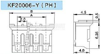 Connector female, VF20006-3Y, 3 pins - 2