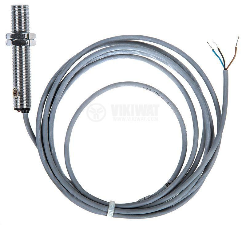 Оптичен датчик дифузен ODD12N111L NPN NO M12x67mm 10-30VDC обхват 200mm месинг - 2