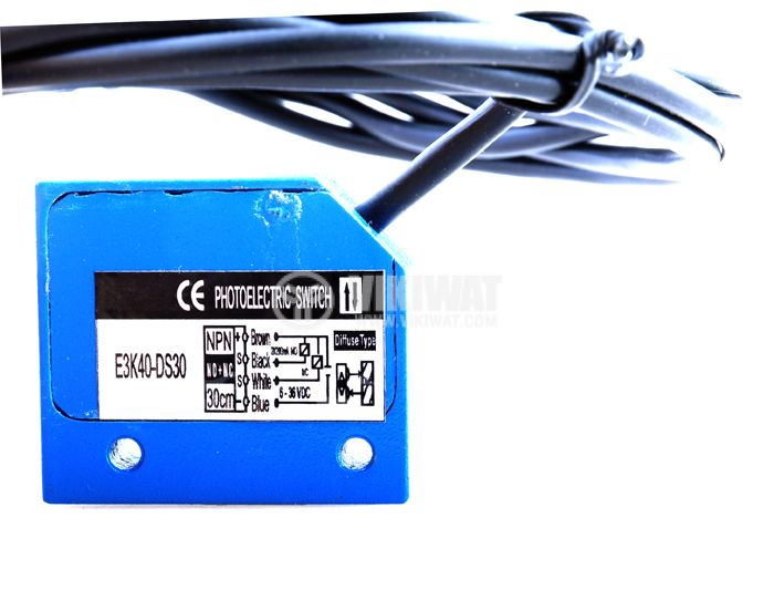 Optoelectronic Switch E3K40-DS30 40x35x13 mm PNP NO+NC diffuse 6-36 VDC 300 mm - 2