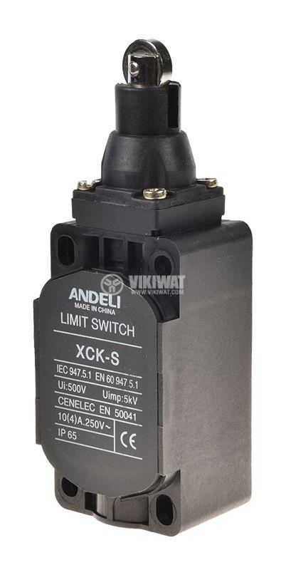 Краен изключвател XCK-S102, SPDT-NO+NC, 10A/250VAC, щифт с ролка - 1