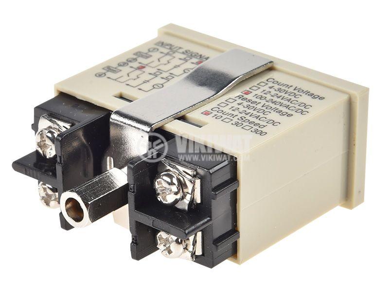 Брояч на импулси, цифров, AHC3J-6AL, 220 VAC, 6 разряда, 0 - 999999 импулса - 5