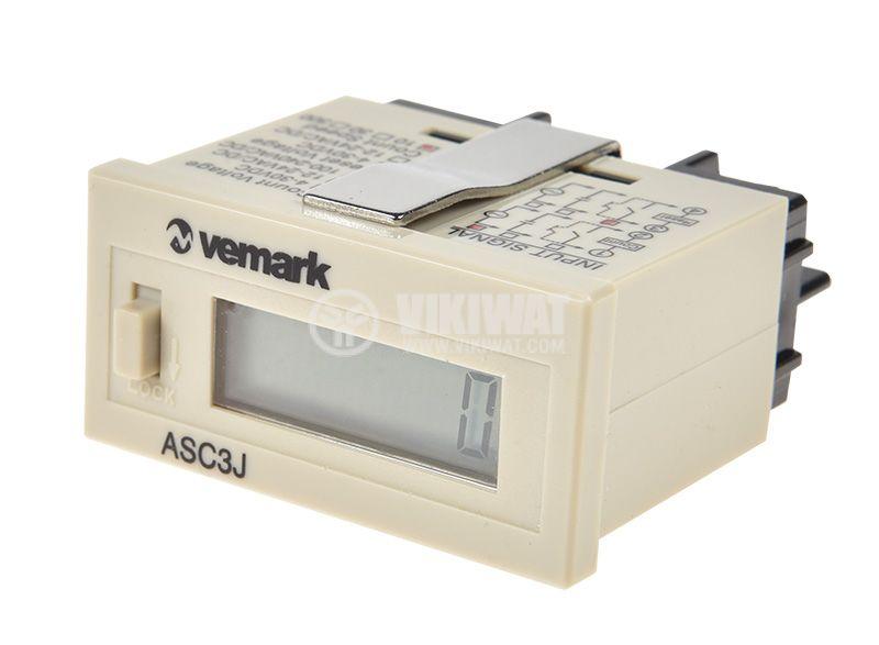 Брояч на импулси, цифров, AHC3J-6AL, 220 VAC, 6 разряда, 0 - 999999 импулса - 1