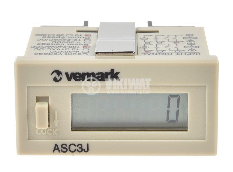 Брояч на импулси, цифров, AHC3J-6AL, 220 VAC - 2