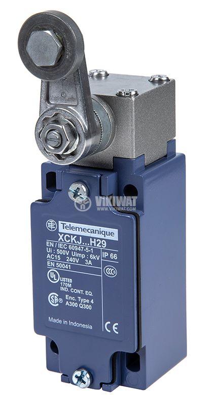 Limit Switch, XCKJ10513H29, NO + NC, 240VAC / 250VDC, 10A, steel roller lever - 1