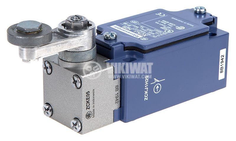 Limit Switch, XCKJ10513H29, NO + NC, 240VAC / 250VDC, 10A, steel roller lever - 3