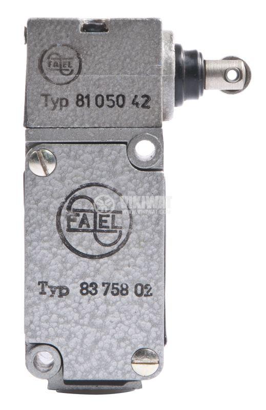 Краен изключвател FAEL 8105042, 10A/380V, NO+NC, стебло с ролка - 1