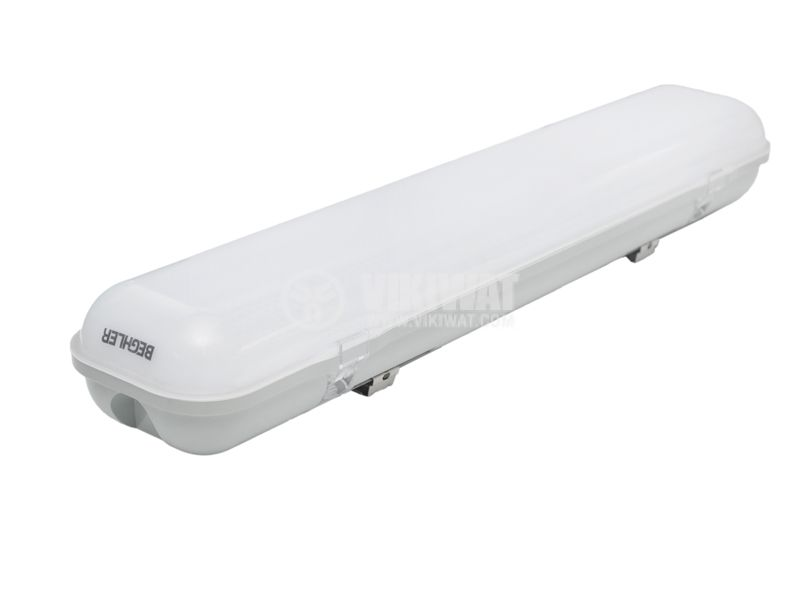Linear LED body, 20W, 220VAC, 1600lm, 6400K, cold white, 600mm, IP65, waterproof, BT01-0620 - 2