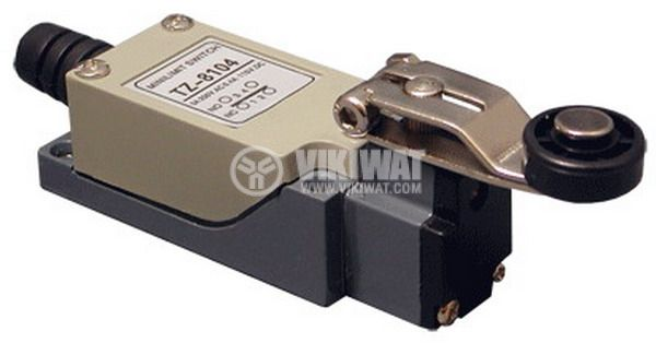 Краен изключвател, TZ-8104, SPDT-NO+NC, 5A/250VAC, рамо с ролка - 1