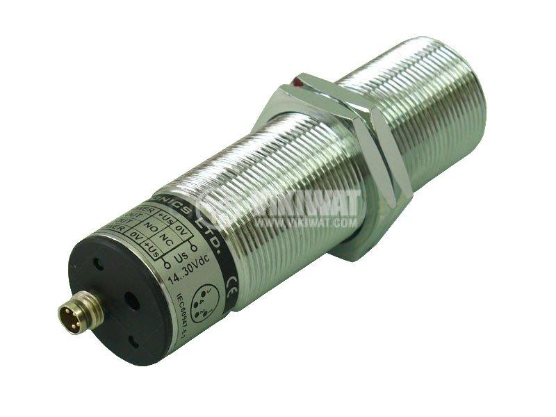 Ултразвуков датчик, UDT30I41/C/L, M30x100 mm, 14-30 VDC, NPN / PNP, NO+NC, 3.3 m, с куплунг