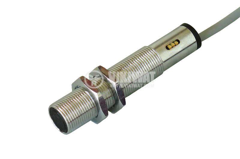Ultrasonic Sensor, UDT14I41L, M14x70 mm, 18-30 VDC, NPN / PNP, NO+NC, 450 mm