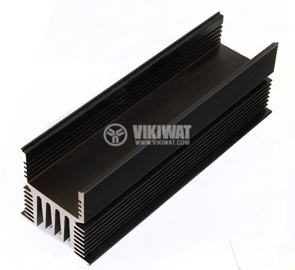 Aluminum cooling radiator profile for SSR relays 100A 190mm oxidized - 2