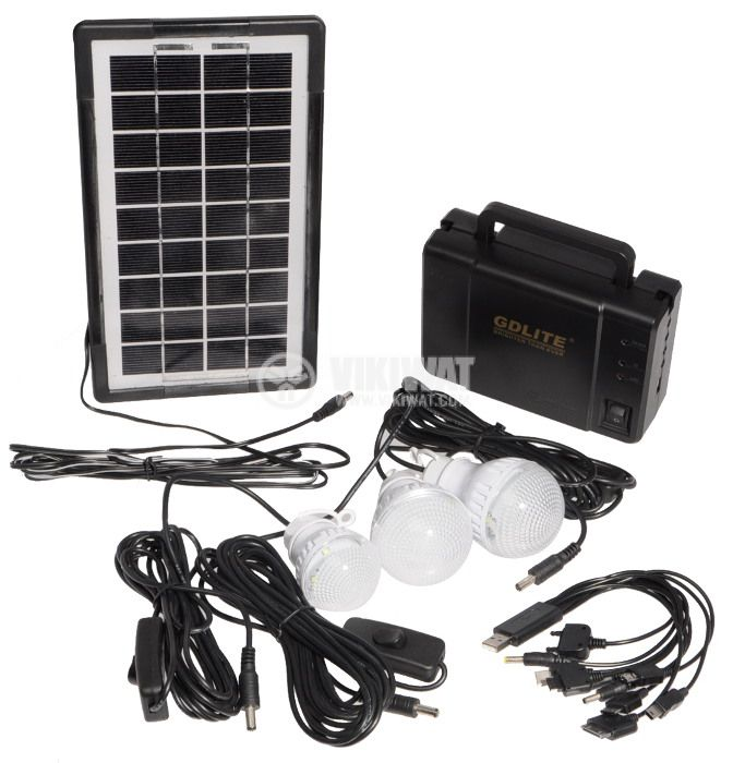 Solar lighting system GD-8006A, 9V, 3-7W