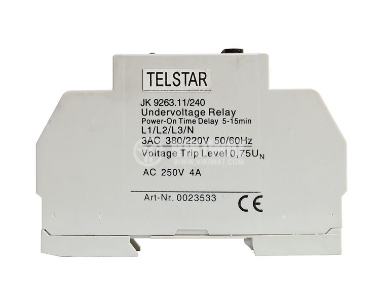 Analogue Time Relay, JK9263,380 VAC , NC + NO, 250 VAC, 4 A, 5 min / 15 min - 2
