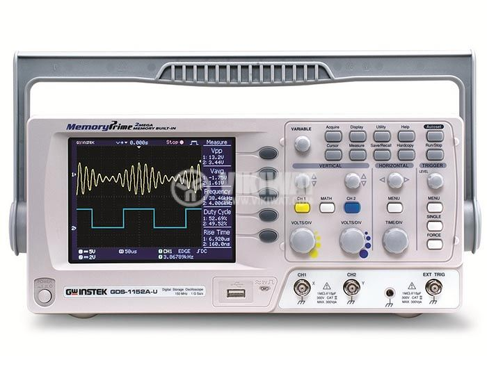 Digital Oscilloscope GDS-1152A-U, 150 MHz, 1 GSa/s real time, 2 channel - 1