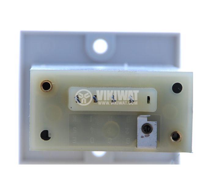 Брояч на импулси, електромеханичен, ZL593, 220VAC, 6 разряда, 1 - 999999 импулса - 4