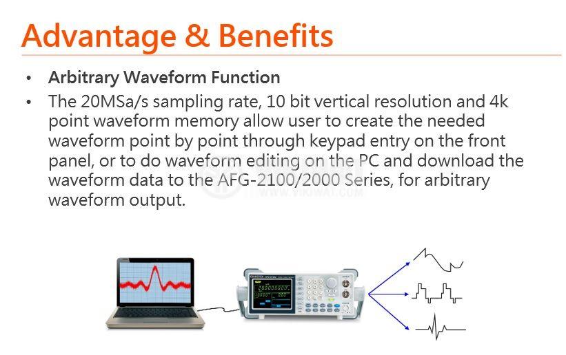 Функционален генератор AFG-2025, цифров (DDS), от 0.1 Hz до 25 MHz - 3