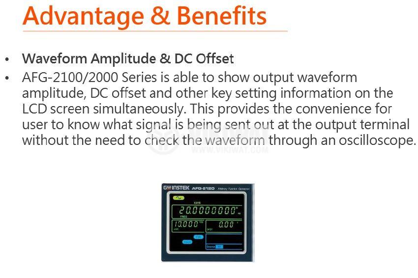 Функционален генератор AFG-2025, цифров (DDS), от 0.1 Hz до 25 MHz - 4