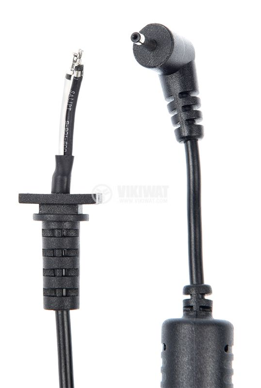 Power cable with laptop adapter tip, 2.5x0.7mm, 1m - 2