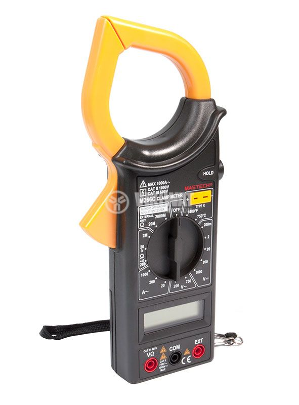 Clamp AC Meter M266C, LCD (2000), VAC, VDC, current AC, Ohm, temperature - 1