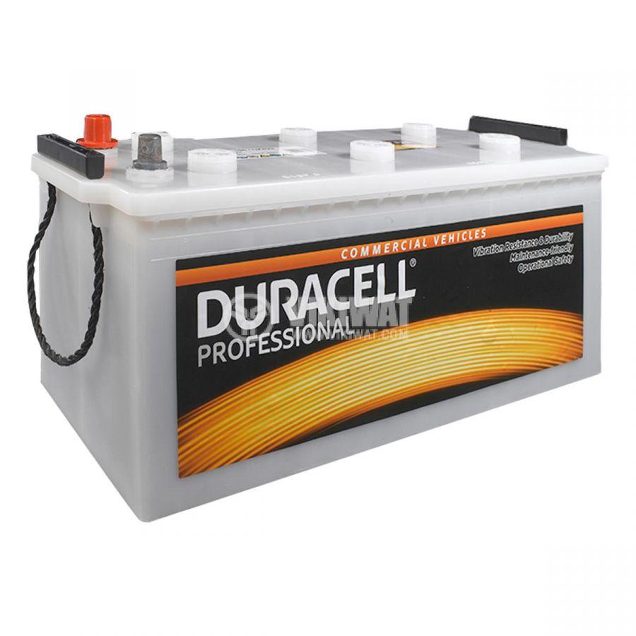 Battery for truck, 140AH, starter, 12VDC, left +, DURACELL DP 140HD