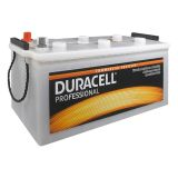 Battery for truck, 140AH, starter, 12VDC, left +, DURACELL DP 140HD