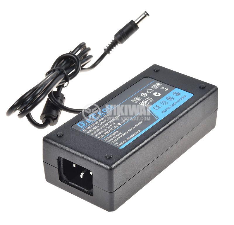 Адаптер UP048S, 12VDC, 4A, AC-DC, 220VAC, 5.5x2.5mm, стабилизиран   - 1