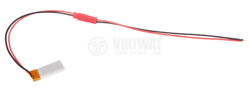 Rechargeable battery, LP401230, 3.7VDC, 110mAh, LiPo - 1