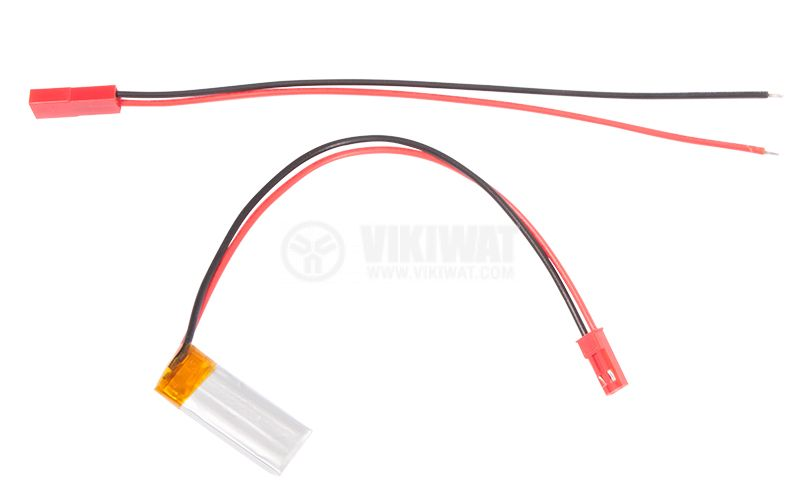 Rechargeable battery, LP401230, 3.7VDC, 110mAh, LiPo - 2