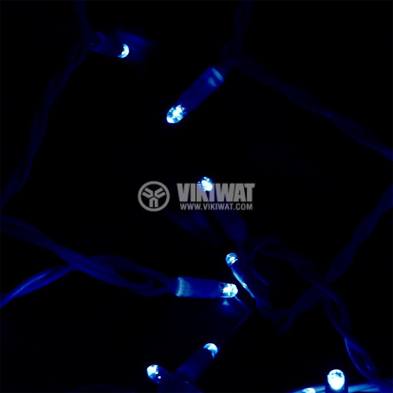 Christmas decoration lighting type rope, 6m, 4.6W, 230V,blue, IP44, 60 LEDs - 5