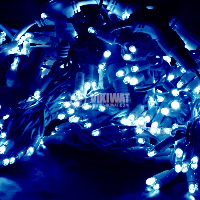 Christmas decoration lighting type rope, 6m, 4.6W, 230V,blue, IP44, 60 LEDs - 1