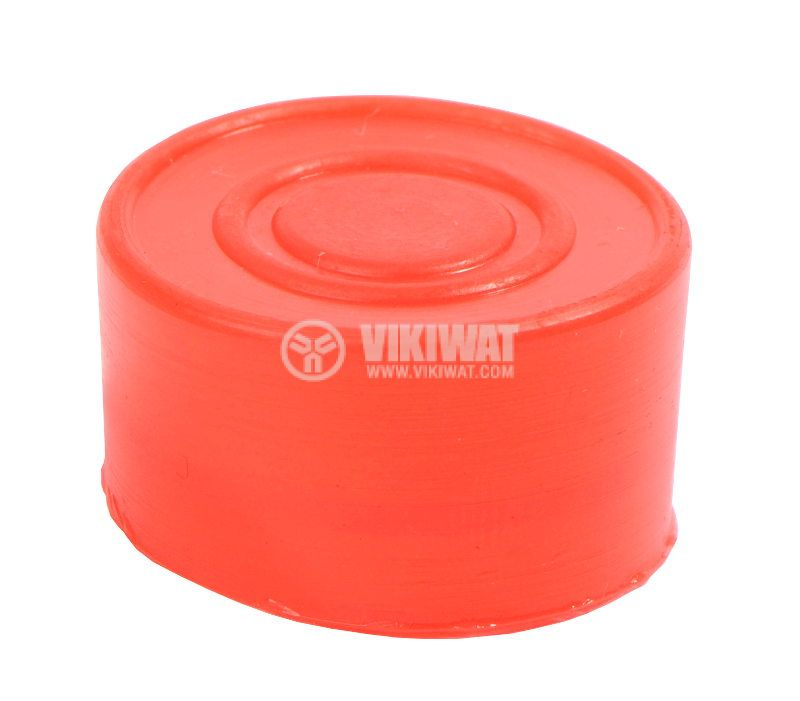 LAY button protection cap BA-R-G silicone red - 1