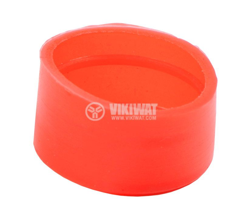 LAY button protection cap BA-R-G silicone red - 2