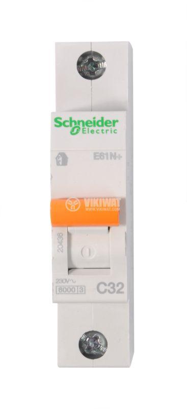 Miniature circuit breaker 1x32A IC60N BG DIN rail curve C - 1