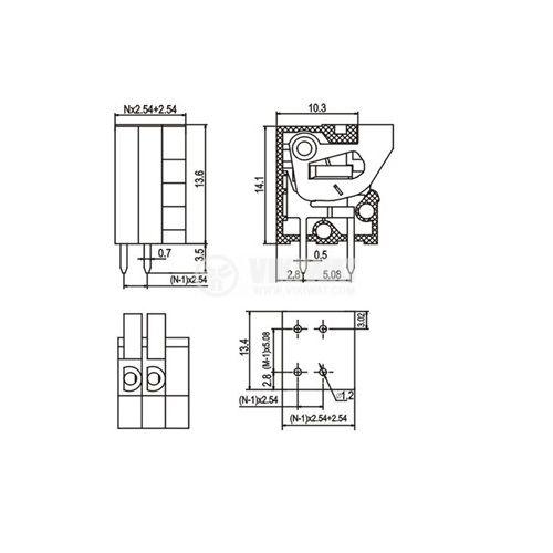 Терминален блок KF141V - 2