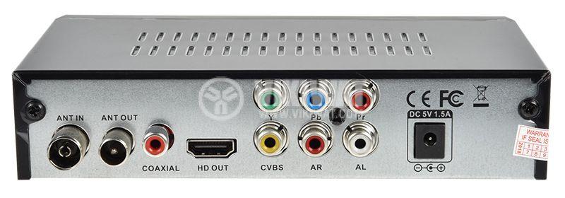 Ефирен HD приемник, MPEG4, H.264, DVB-T2, за ефирна цифрова телевизия за автомобили и камиони - 3