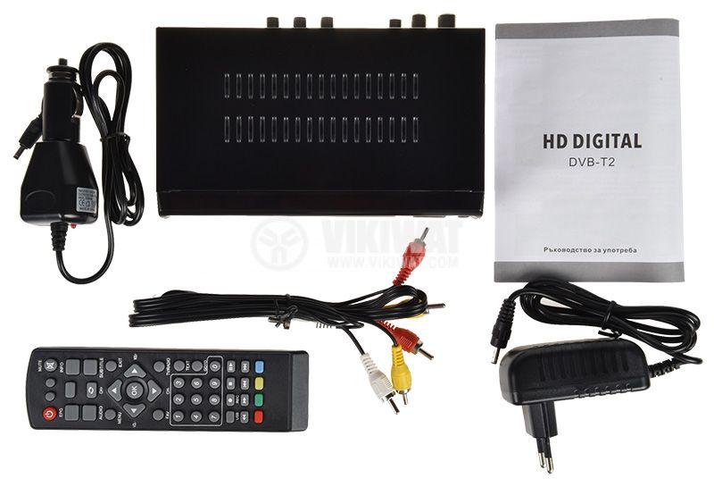 Ефирен HD приемник, MPEG4, H.264, DVB-T2, за ефирна цифрова телевизия за автомобили и камиони - 4