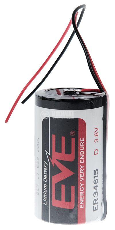 Lithium Battery ER34615, D, 3.6VDC - 1